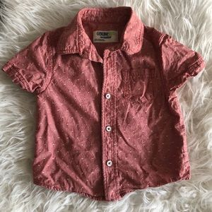 Heather Red with white stitches short sleeved